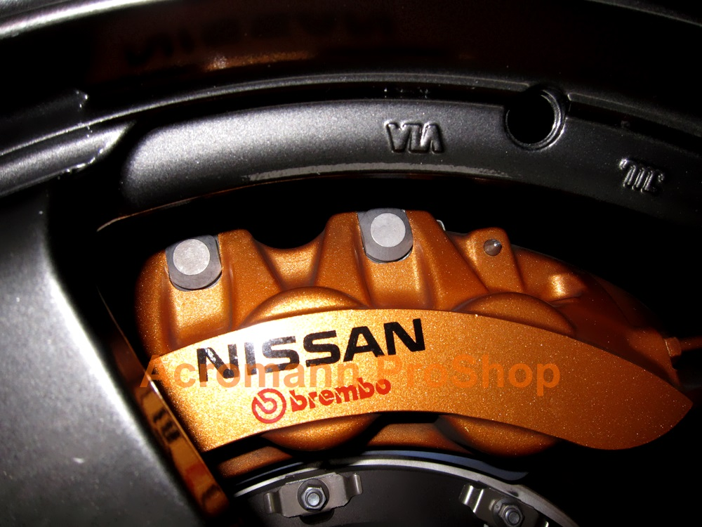 NISSAN Brembo 3inch Brake Caliper Decal x 2pcs