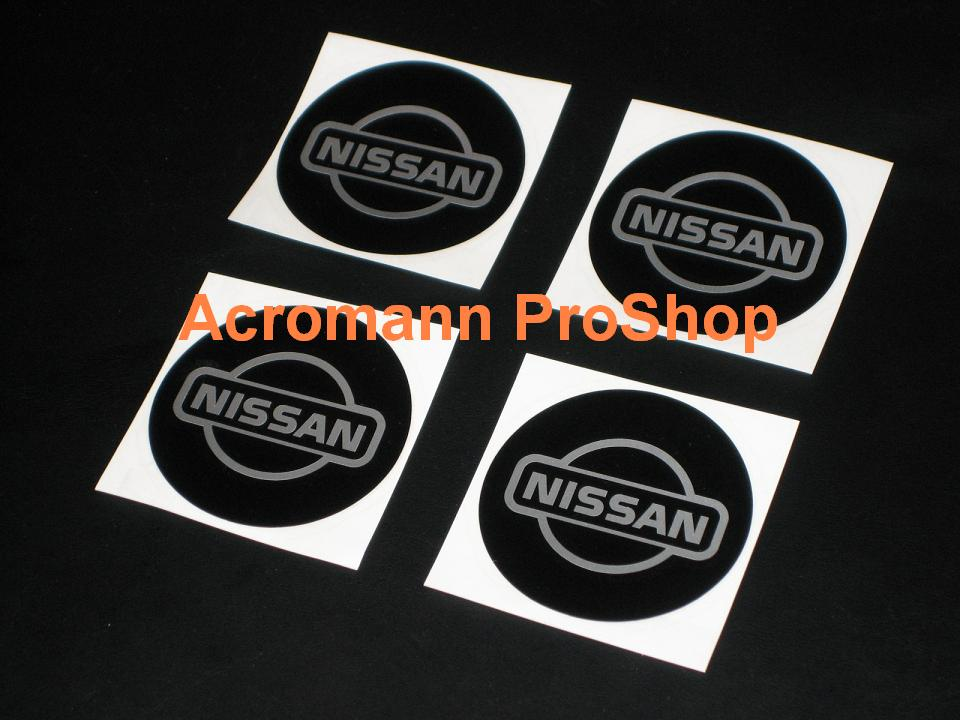 NISSAN 2.2inch Wheel Cap Decal (Style#2) x 4 pcs