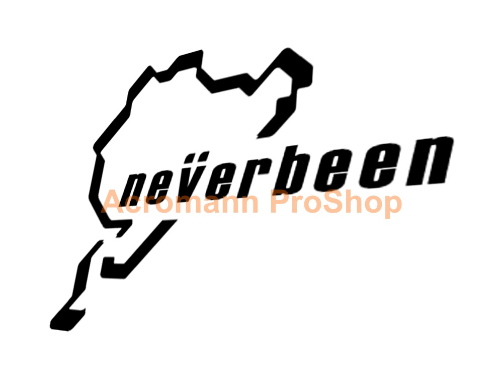 Nurburgring Neverbeen track 4.5inch Decal (Style#2) x 2 pcs