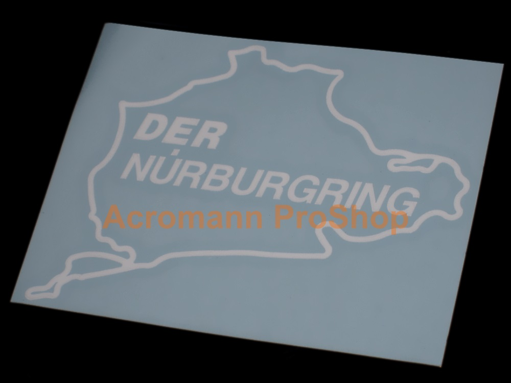Nurburgring track 4.5inch Decal (Style#7) x 2 pcs