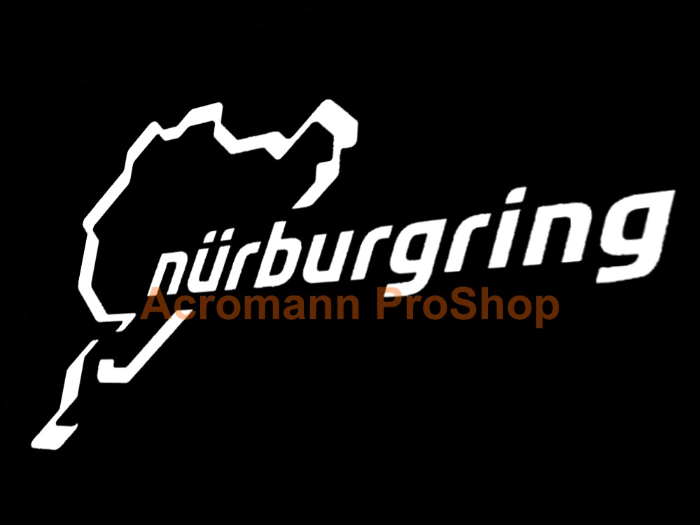 Nurburgring track 4.5inch Decal (Style#5) x 2 pcs