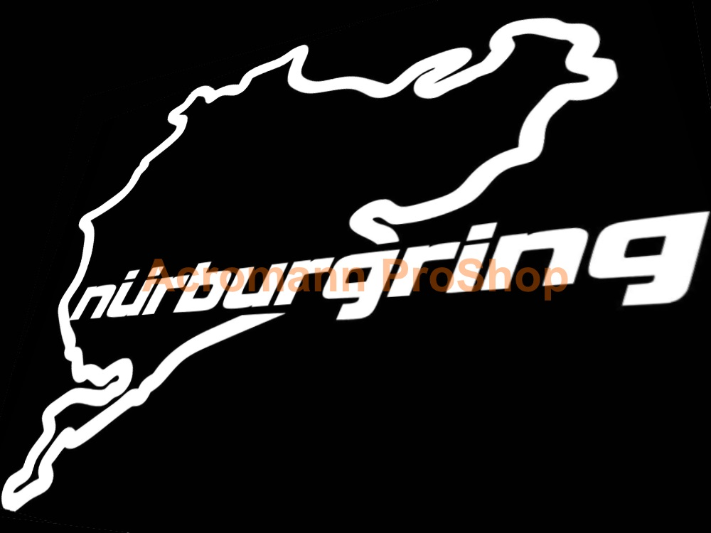 Nurburgring track 4.5inch Decal (Style#4) x 2 pcs