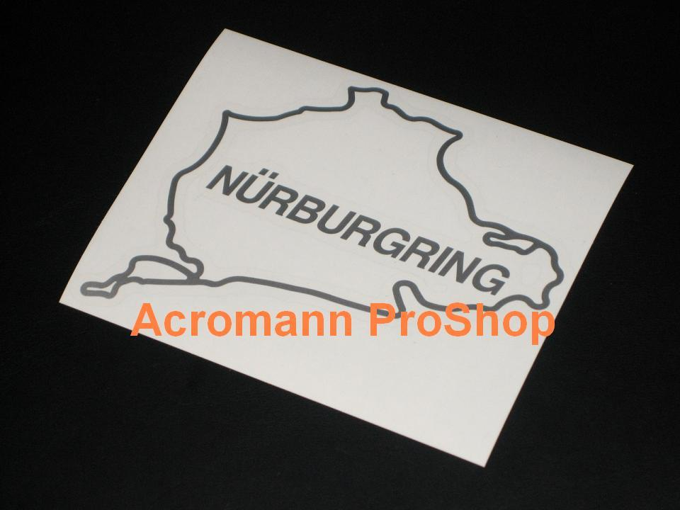 Nurburgring track 4.5inch Decal (Style#1) x 2 pcs