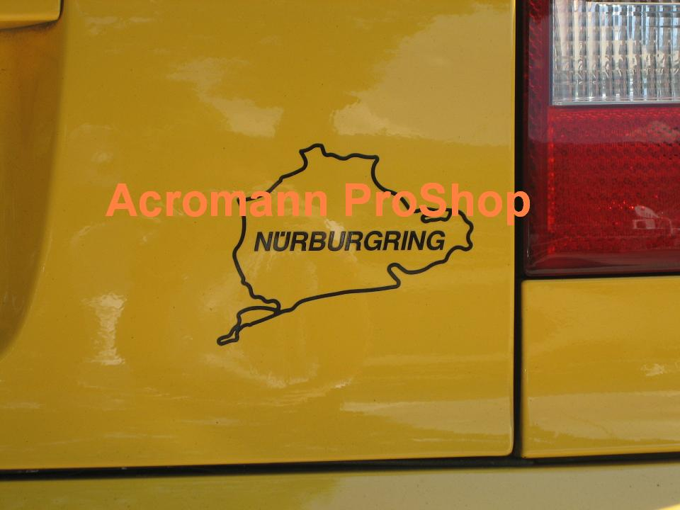 Nurburgring track 4.5inch Decal (Style#3) x 2 pcs