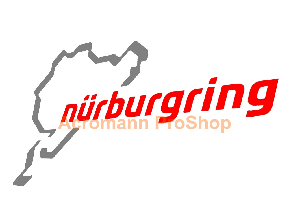 Nurburgring track 4.5inch Decal (Style#6) x 2 pcs