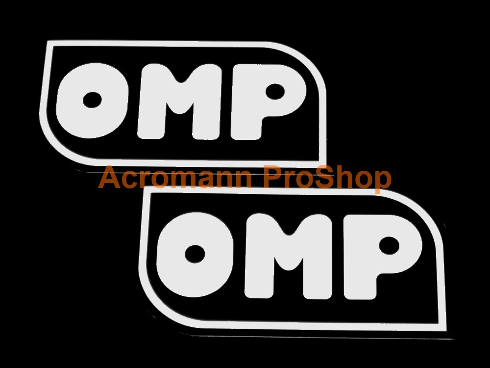 OMP 4inch Decal (Style#4) x 2 pcs