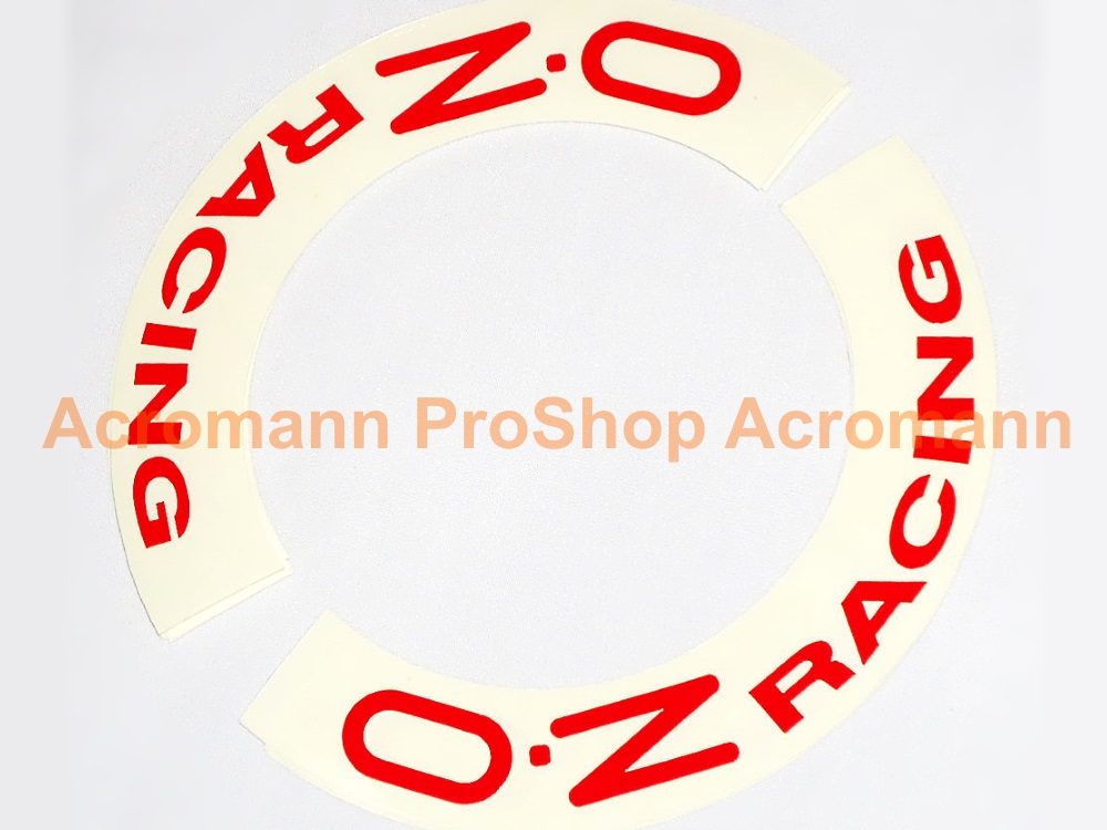 OZ Racing (O.Z) 10inch curved Alloy Wheel Decal (Style#2) x 4pcs