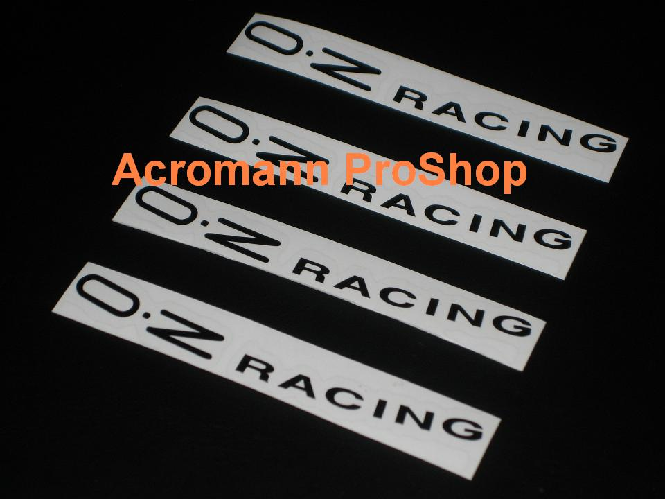 OZ Racing (O.Z) 3 5/8inch curved Alloy Wheel Decal(Style#1)x4pcs