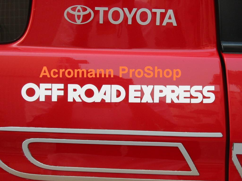 Off Road Express 6inch Decal x 2 pcs