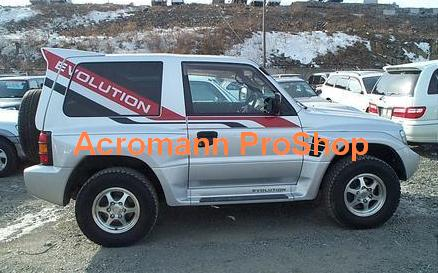 RALLIART Pajero Evolution Side Stripe Decal x 1 pair