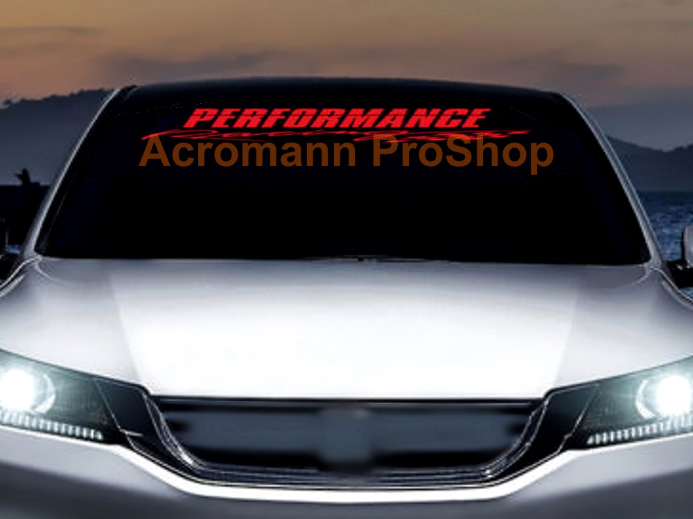 PERFORMANCE Racing Windshield Decal (Style#1)