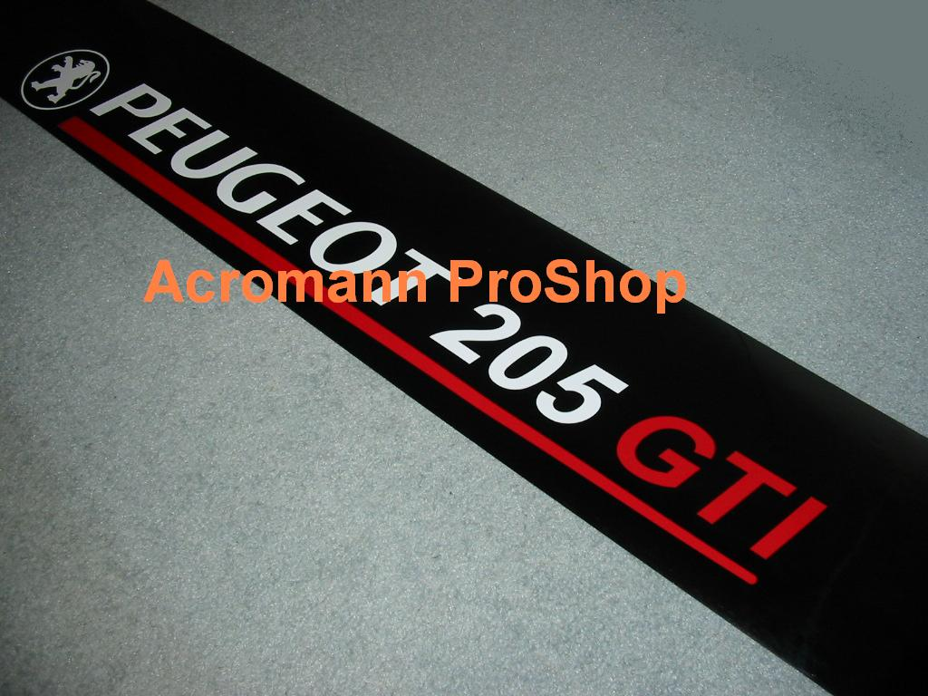 Peugeot 205 GTI Windshield Decal