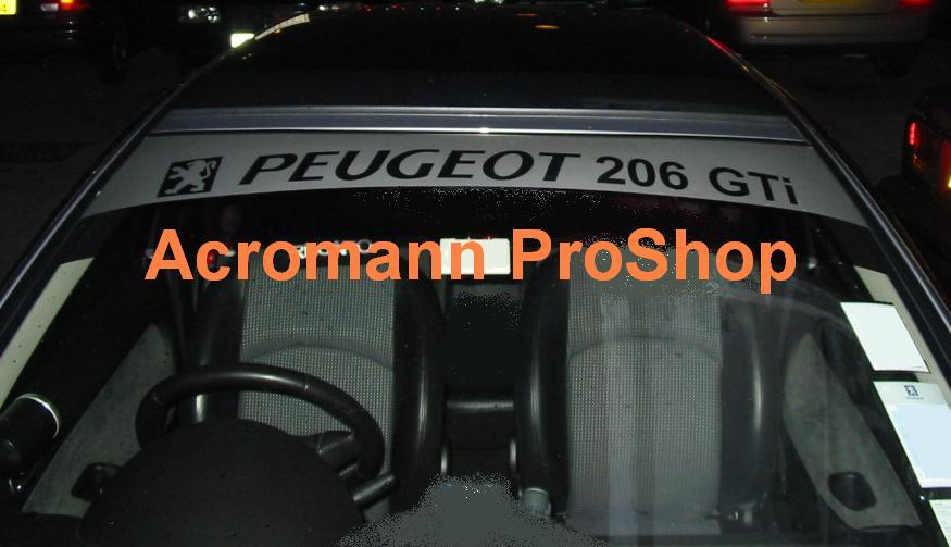 Peugeot 206 GTi Windshield Decal
