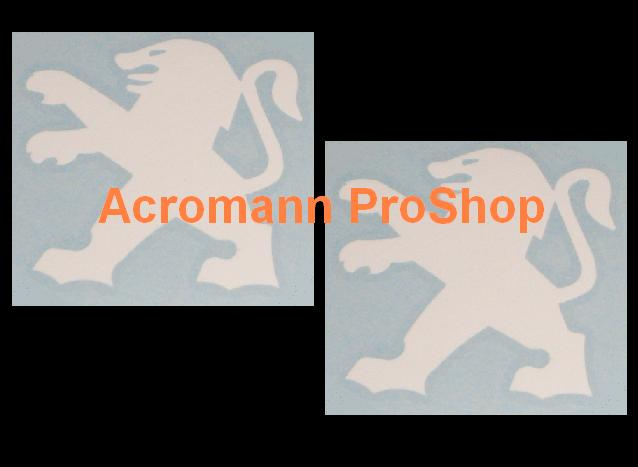 Peugeot Logo 4inch Decal x 2 pcs