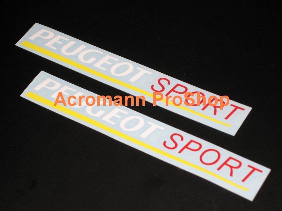 Peugeot Sport 6inch Decal (Style#1) x 2 pcs