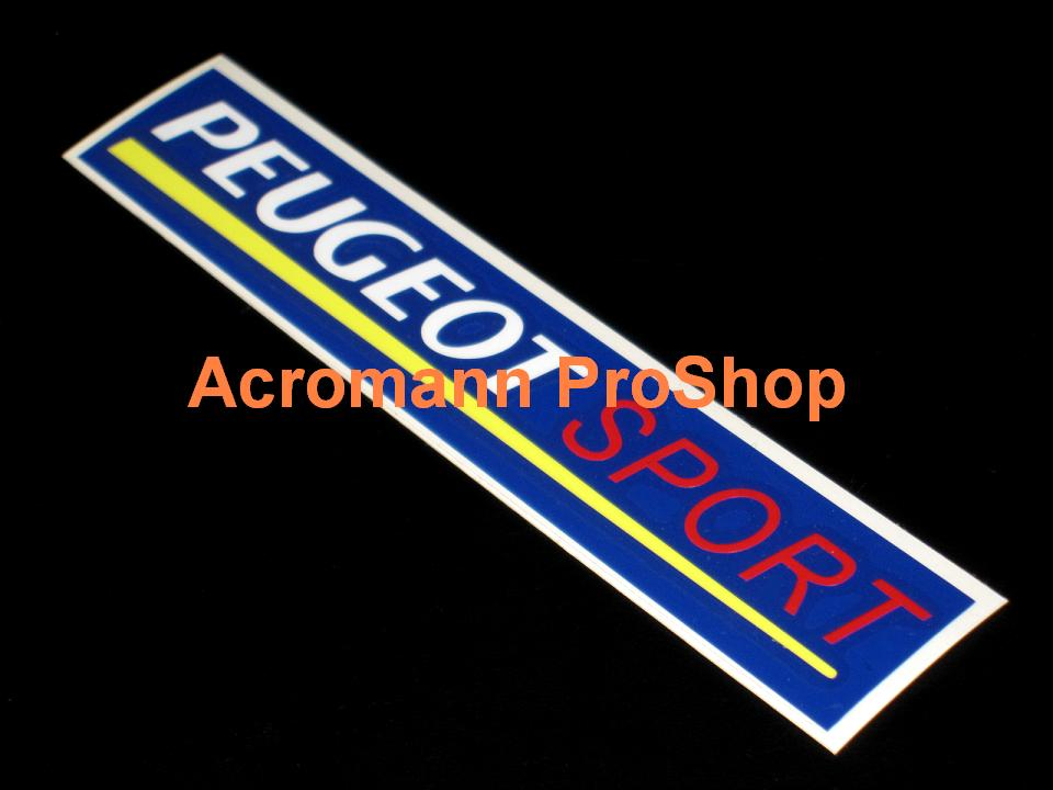 Peugeot Sport 6inch Decal (Style#2) x 2 pcs