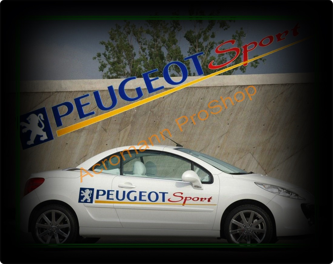 Peugeot Sport Large Side Door Decal x 1 pair (LHS & RHS)