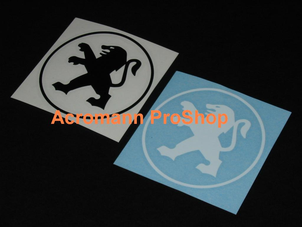 Peugeot Round Logo 3inch Decal x 2 pcs