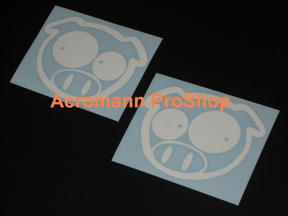 Scobby (Scooby) Rally Pig (SWRT) 4inch Decal (Style#2) x 1 pair