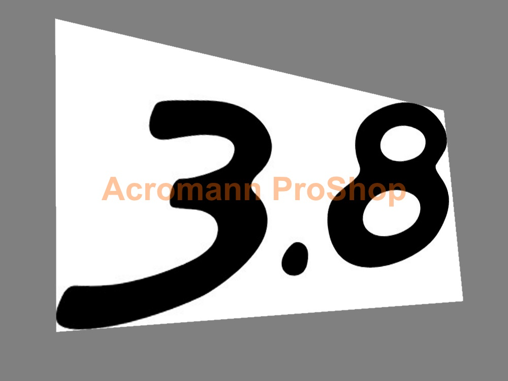 Porsche 3.8 4inch Decal x 2 pcs