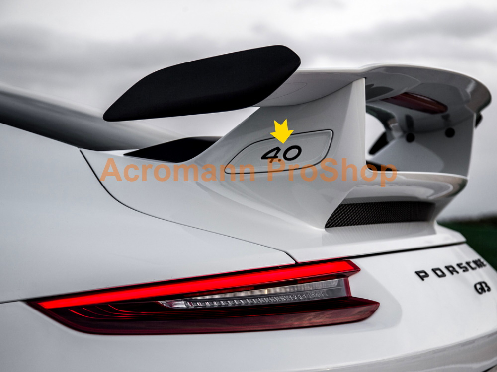 Porsche 4.0 991.2 GT3 Rear Wing Spoiler Side End Plate Decals x2