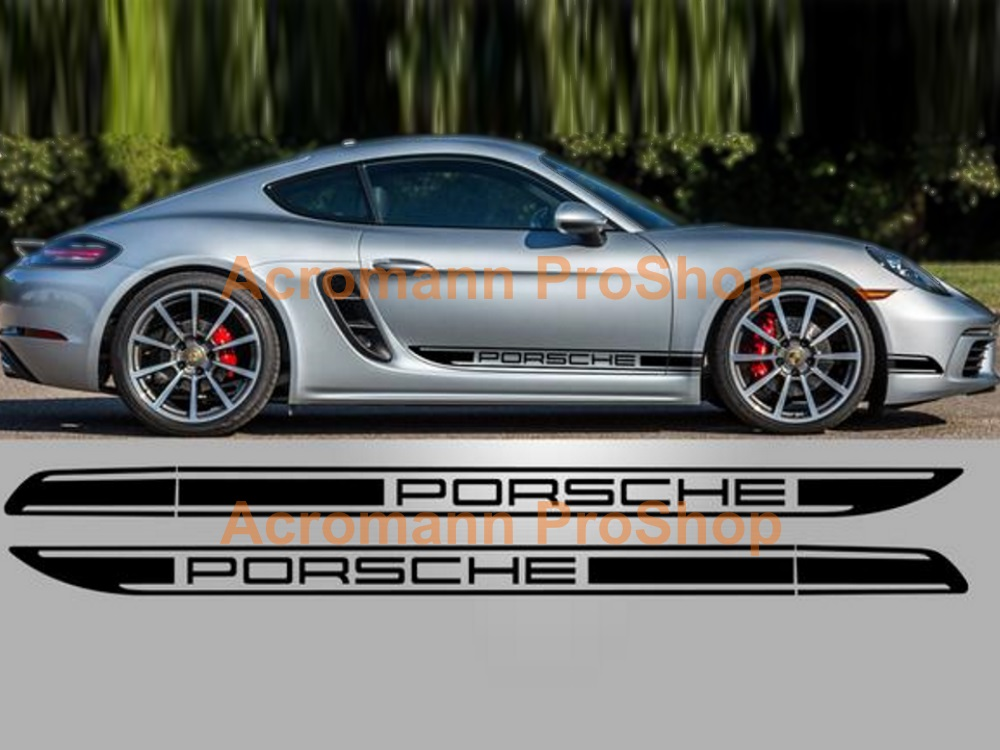 Porsche 718 Cayman Boxster Classic Side Stripes Door Decals(#21)