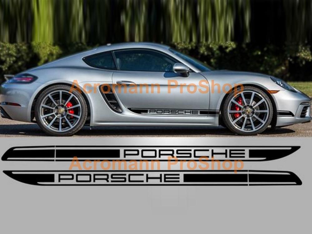 Porsche Racing Vinyl Stripes Cayman GT4 R 981 987 //RS Door Decal Boxster