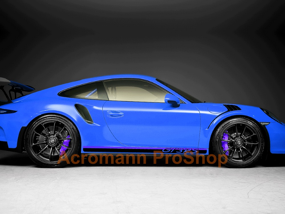 Porsche 911 991 992 GT3 RS Side Stripes Door Decals (Style#6)