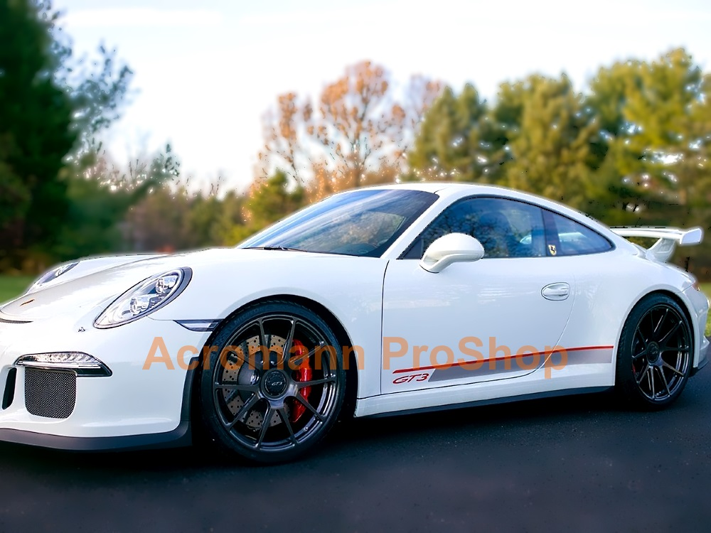 Porsche 911 997.2 GT3 RS 4.0 Side Stripes Door Decals (Style#2)