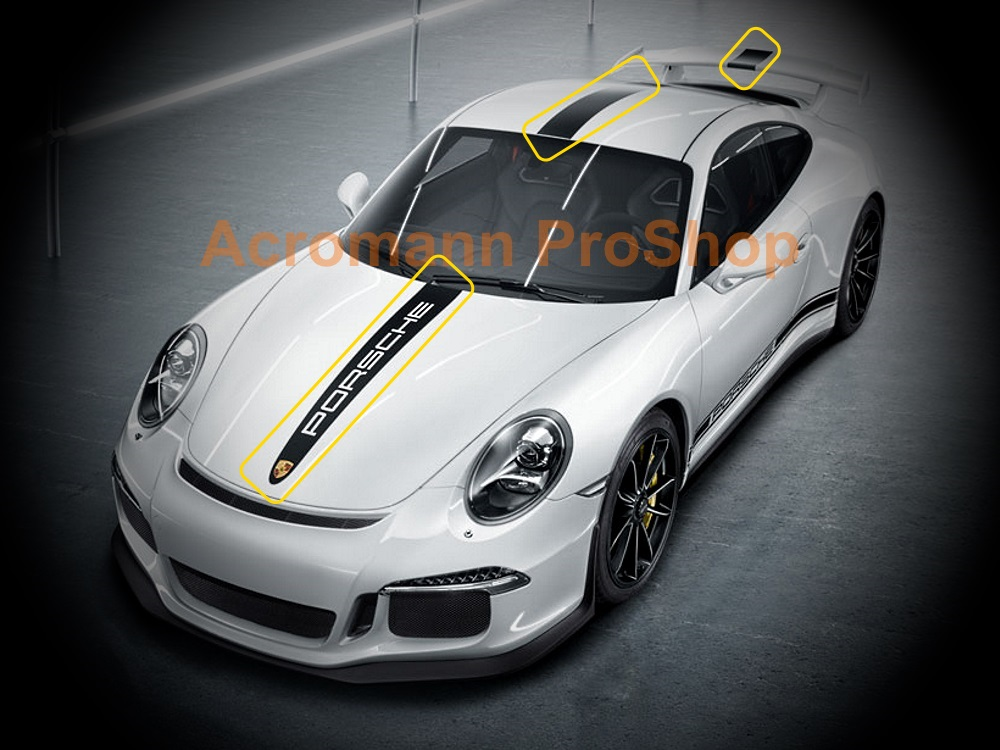 Porsche Motorsport 991 GT3 RS Style Whole Body Stripes x 1 set