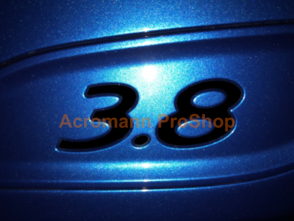 Porsche 3.8 Rear Wing Side End Plate Decal x 2 pcs