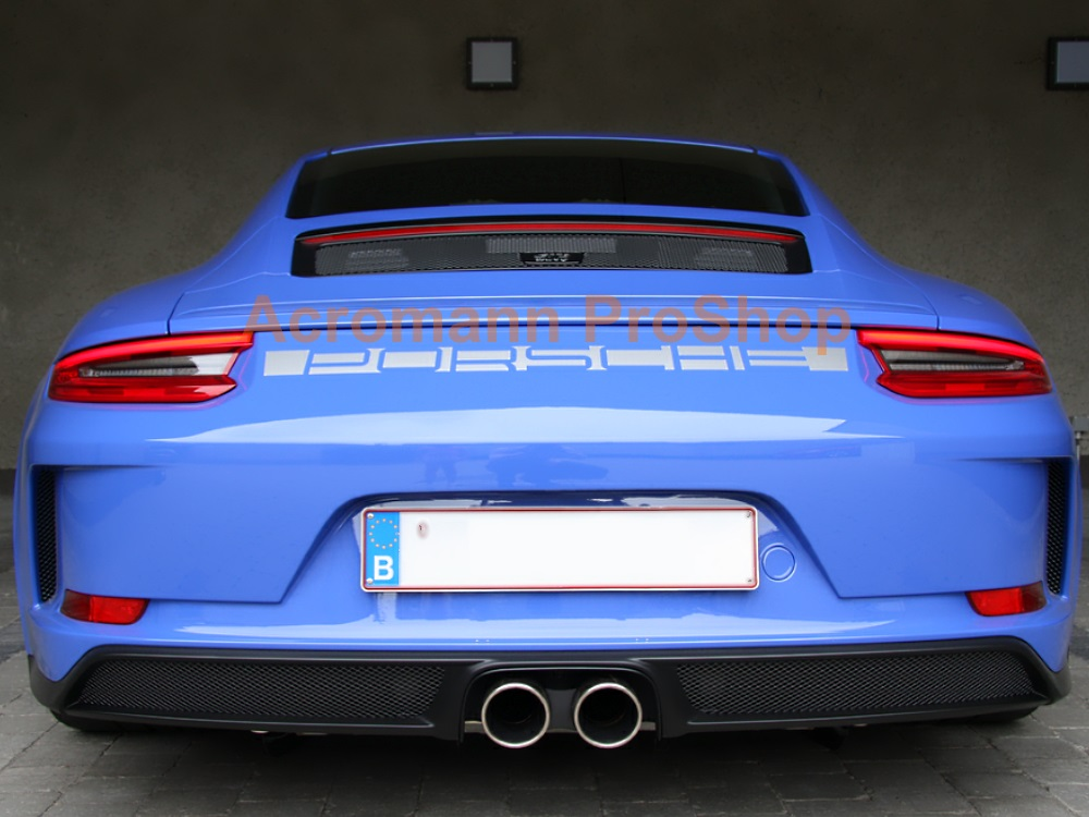 Porsche 911 991 Carrera Rear Deck Lip Trunk Boot Decal Sticker