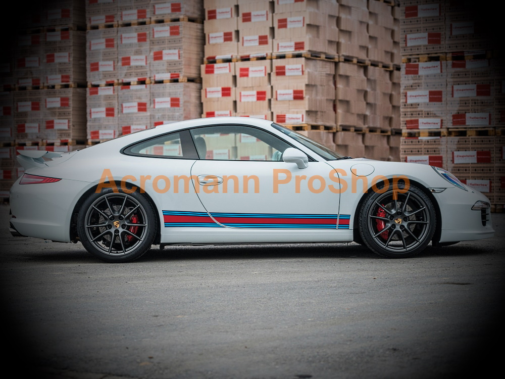 Martini Racing Porsche 911 991 Carrera Side Stripes Door Decal#1