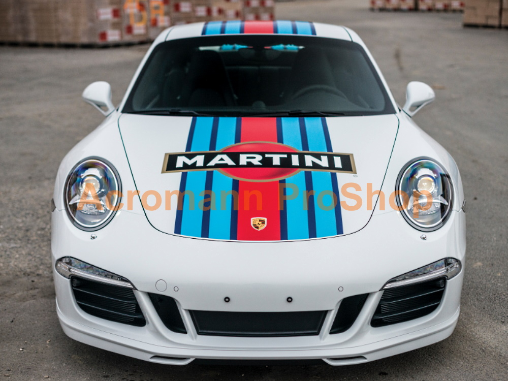 Martini Racing Porsche 911 991 Carrera Top Racing Stripe Decal#1