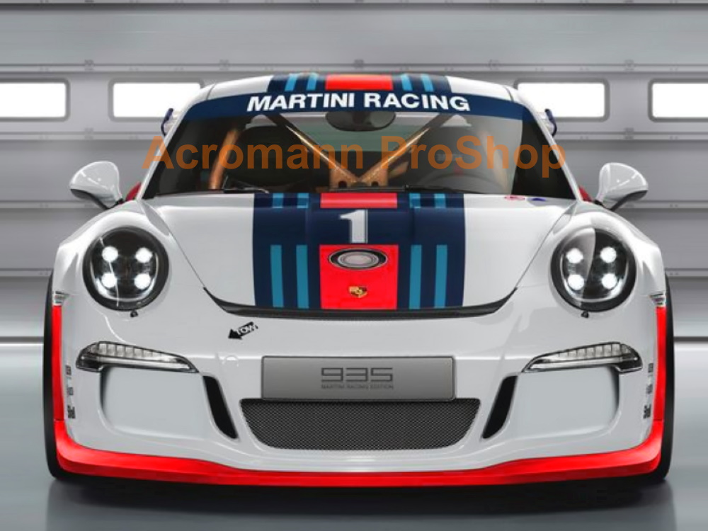 Martini Racing Porsche 911 991 Carrera Top Racing Stripe Decal#2
