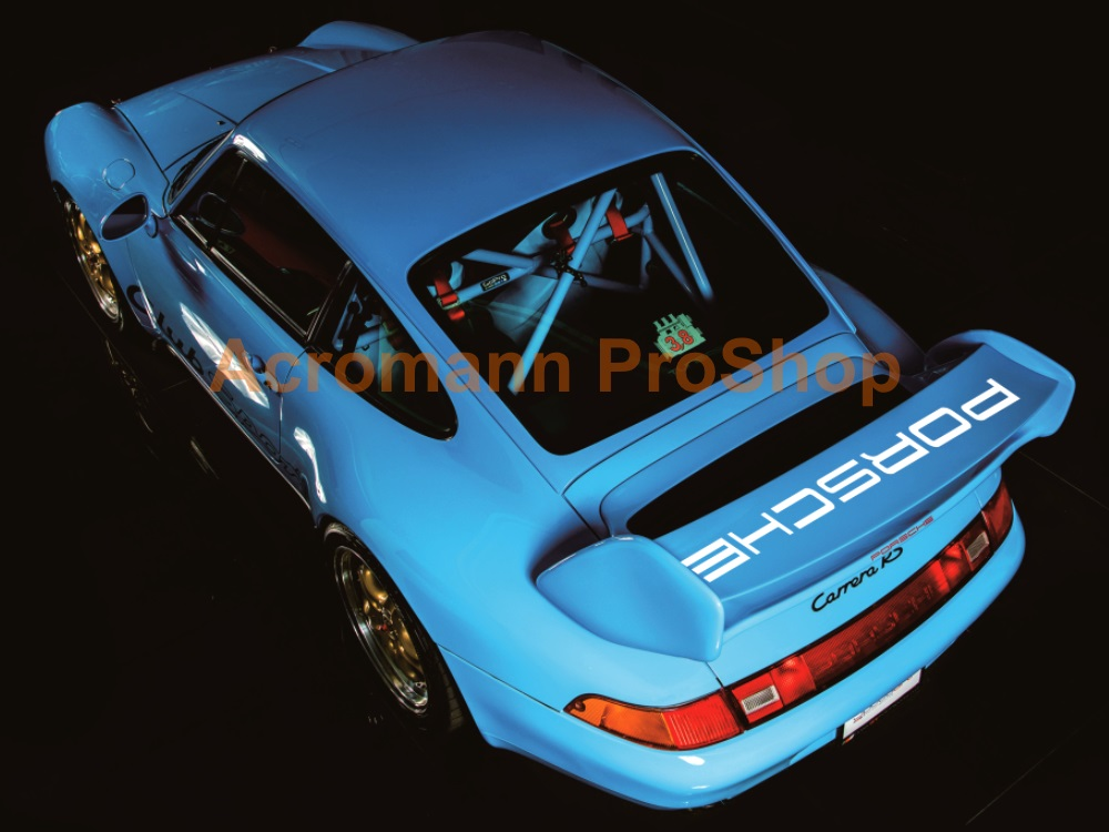 Porsche 993 Carrera RSR ClubSport Cup Rear Wing Decal - Straight