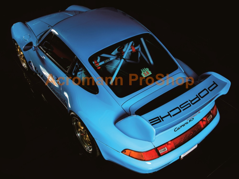 Porsche 993 Carrera RSR ClubSport Cup Rear Wing Decal - Curved