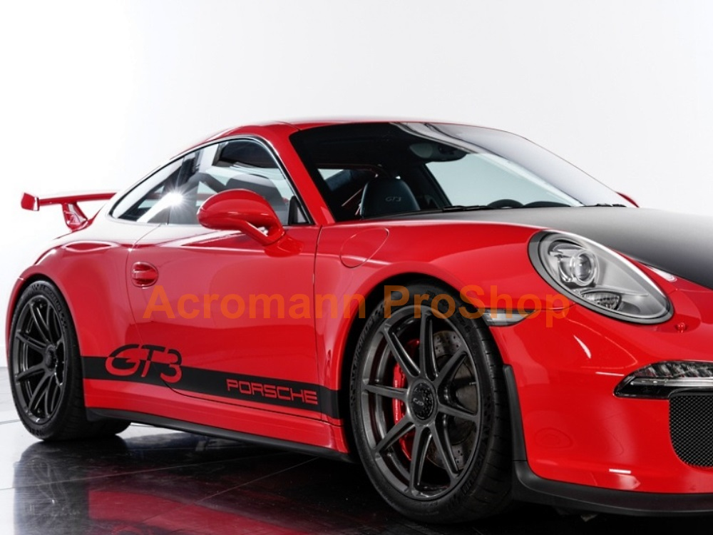 Porsche 911 996 997 991 GT3 Side Stripes Door Decals (Style#2)