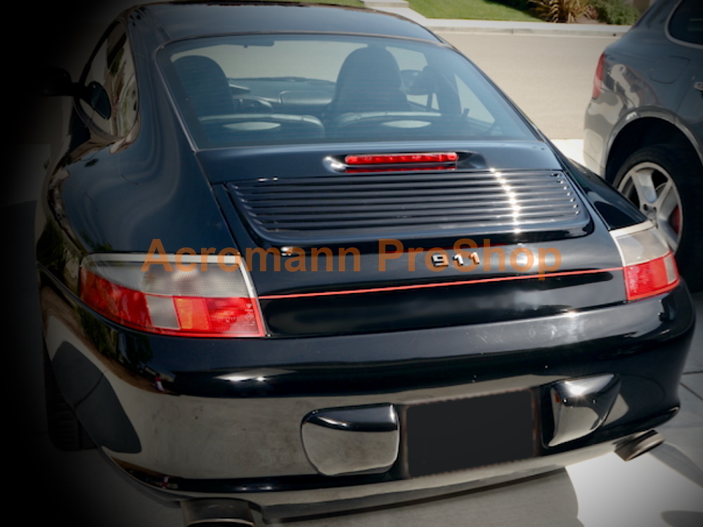 Porsche 911 996 Carrera Rear Deck Lip Trunk Boot Decal Sticker
