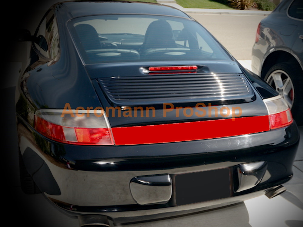 Porsche 911 996 CarreraC4S Rear Trunk Heckblende Reflector Decal