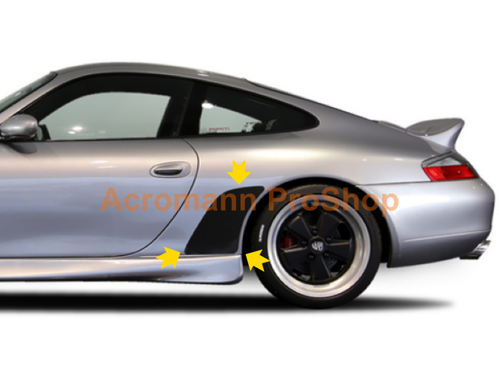 Porsche 911 996 Carrera Stone Guards Chip Film Clear Bra Decals