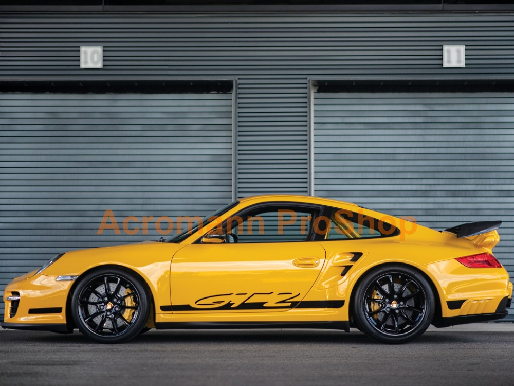 Porsche 911 997.1 GT2 turbo Side Stripes Door Decals (Style#1)