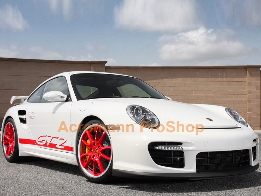 Porsche 911 997.1 GT2 turbo Side Stripes Door Decals (Style#2)