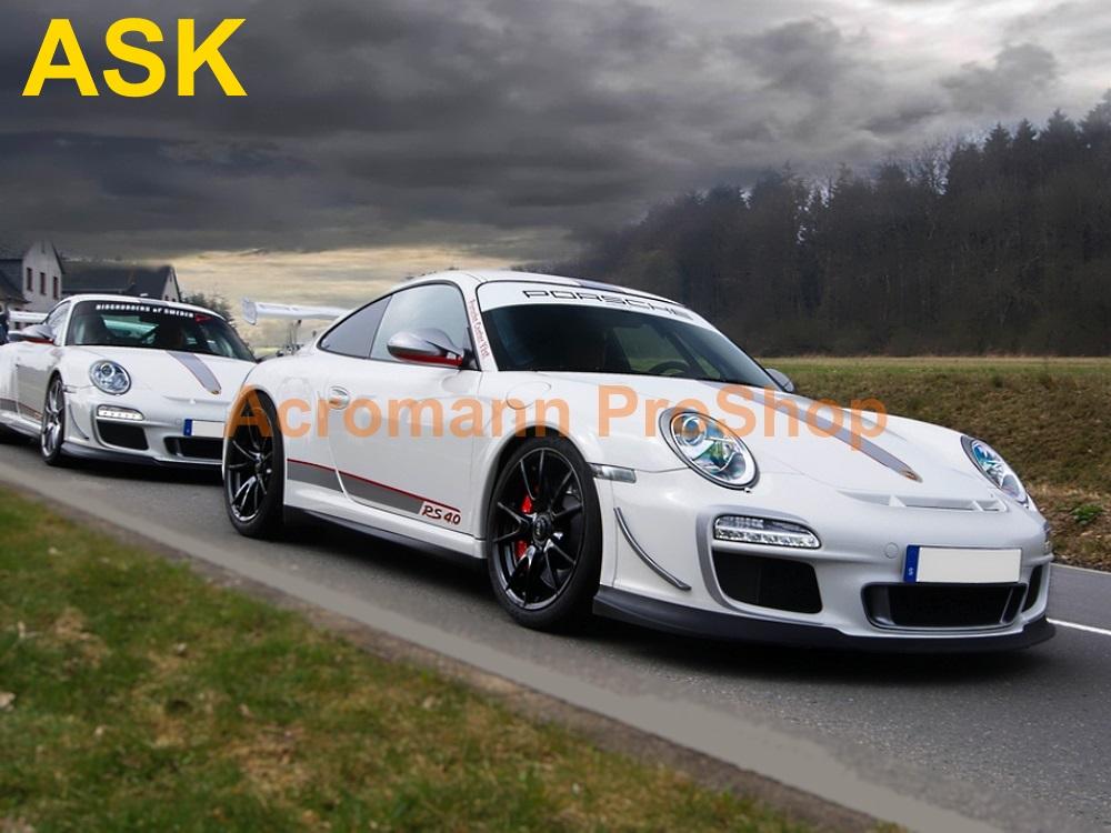 Porsche 911 997 2 GT3 RS 4 0 Side Stripes Door Decals (Style#1)