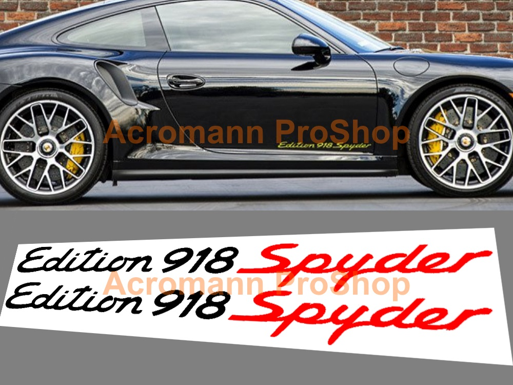 Porsche Edition 918 Spyder Lower Side Door 19inch Decal x 1 pair