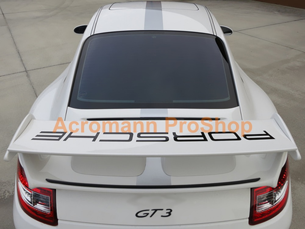 Porsche 997.1 GT3 Rear Wing Spoiler Decal Sticker - Curved