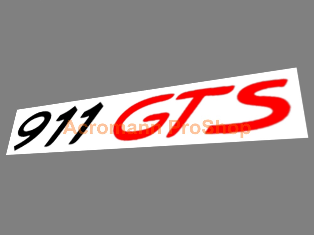 Porsche 911 GTS Lower Side Door 11inch Decal x 1 pair
