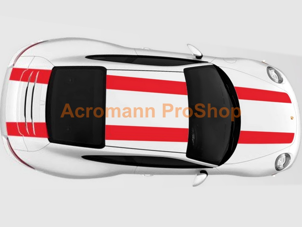 Porsche 911R 991 Whole Body Stripes (Style#2) x 1 set
