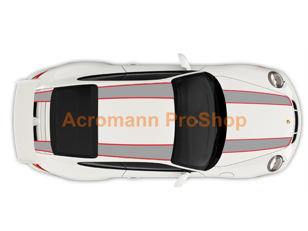 Porsche 911R 991 Whole Body Stripes (Style#3) x 1 set