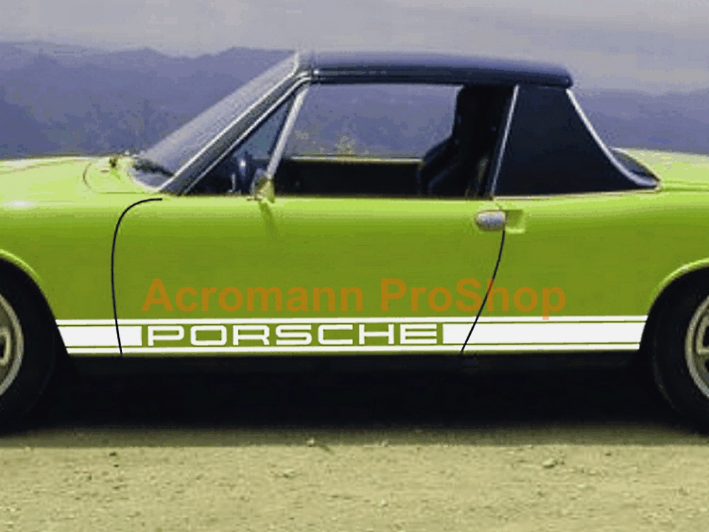 Porsche 911 914 930 Classic Side Stripes Door Decals (Style#1)